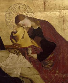 Quarton. Pietà de Villeneuve-lès-Avignon, détail