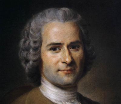 Maurice Quentin de la Tour. Portrait de Jean-Jacques Rousseau, détail