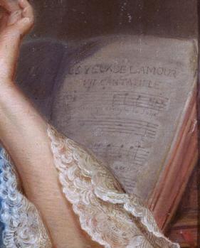 Maurice Quentin de la Tour. Portrait de Marie Fel, détail