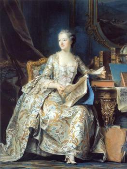 Quentin de la Tour. Portrait de la marquise de Pompadour (1752-55)