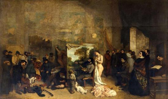 Courbet. l'Atelier du peintre (1854-55)