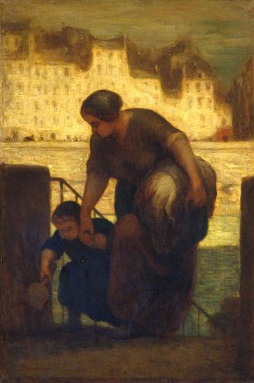 Daumier. La Blanchisseuse (1863)