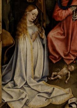 Robert Campin. Nativité. La Vierge