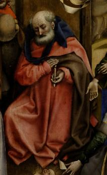 Robert Campin. Nativité. Saint Joseph