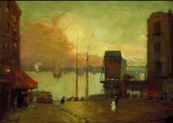 Robert Henri. Cumulus Clouds, East River (1901)