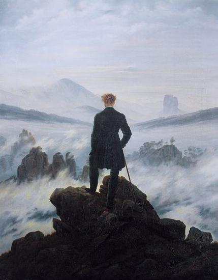 Friedrich. Le Voyageur au-dessus de la Mer de brume (1817-18)