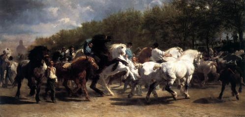 Rosa Bonheur. Le marché aux chevaux (1853)
