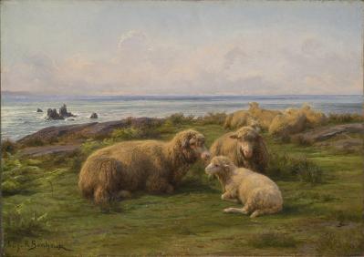 Rosa Bonheur. Moutons au bord de la mer (1865)
