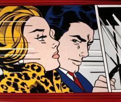 Roy Lichtenstein. In the car (1963)