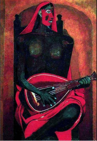 Rufino Tamayo. Le femme avec un masque rouge (1940)