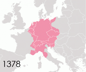 Le Saint-Empire romain germanique en 1378