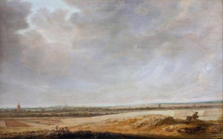 Salomon van Ruysdael. Paysage avec champs de blé (1638)