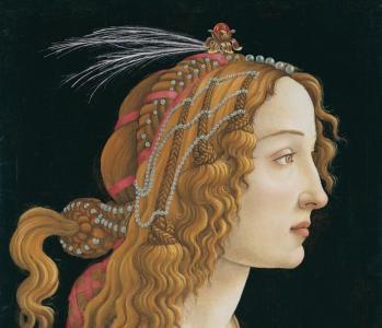 Sandro Botticelli. Portrait de jeune femme, détail