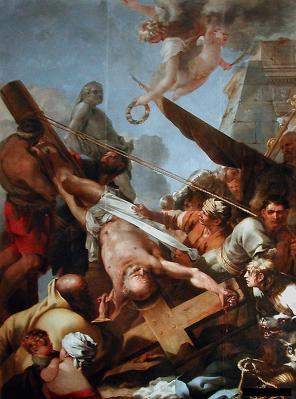 Sébastien Bourdon. Le crucifiement de saint Pierre (1643)