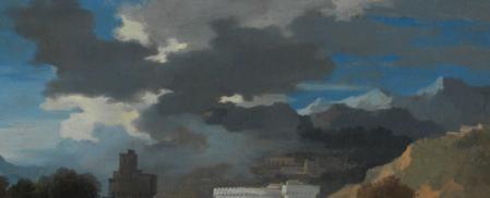 Sébastien Bourdon. Paysage classique, détail