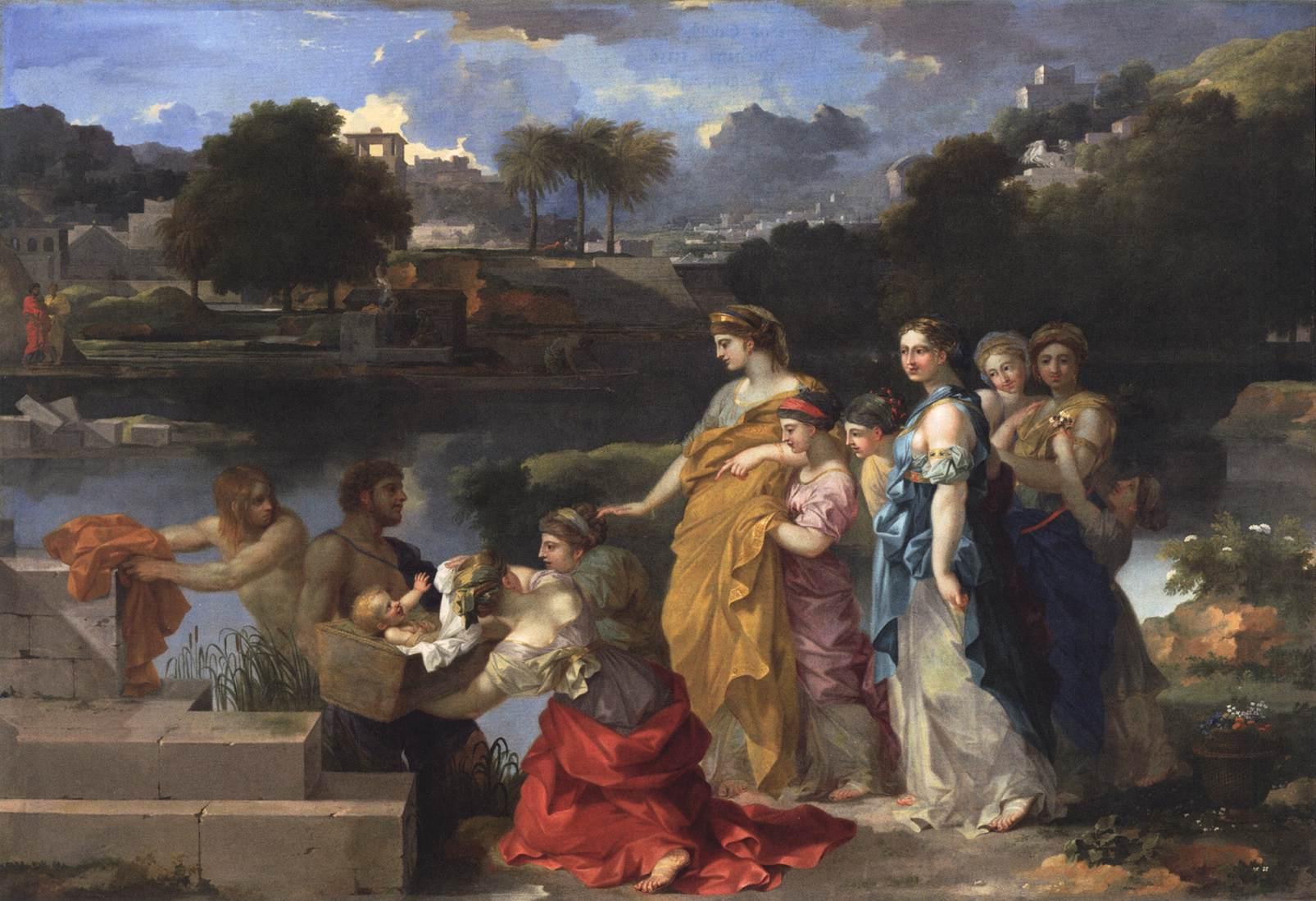 Sébastien Bourdon. Moïse sauvé des eaux (1655-60)