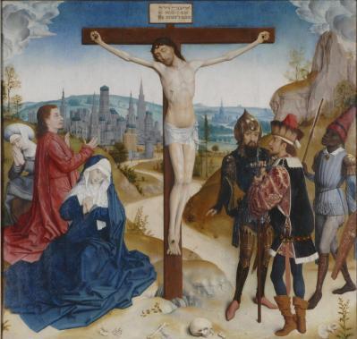 Simon Marmion. La Crucifixion (v. 1470)