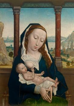 Simon Marmion. La Vierge et l'Enfant (v. 1465-75)