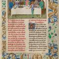 Simon Marmion. Le malaise de Tondal au dîner (1475)