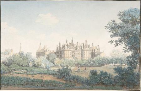 Simon Mathurin Lantara. Le Château de Chambord vu du Sud-Ouest (1750-78)