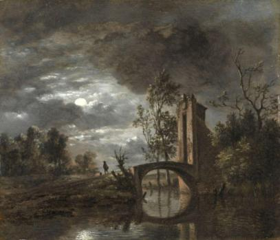 Simon Mathurin Lantara. Paysage au clair de lune (1750-78)