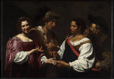 Simon Vouet. La Diseuse de bonne aventure (v. 1620)