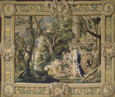 Simon Vouet. Moïse sauvé des eaux (v. 1630)