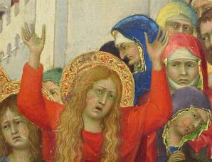 Simone Martini. Le Portement de Croix, détail