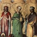 Stefan Lochner. Retable des quatre pères latins de l'Église, aile droite, intérieur (v. 1450)