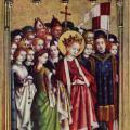 Stefan Lochner. Retable des saints patrons de Cologne, aile gauche (v. 1442)