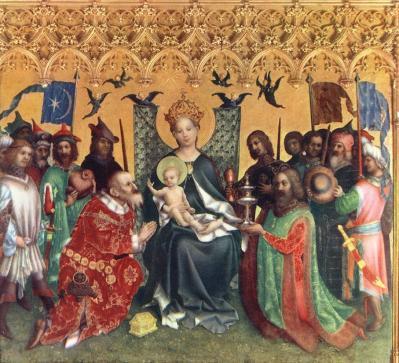 Stefan Lochner. Retable des saints patrons de Cologne, panneau central (v. 1442)