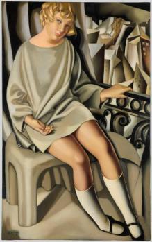 Tamara de Lempicka. Kizette au balcon (1927)