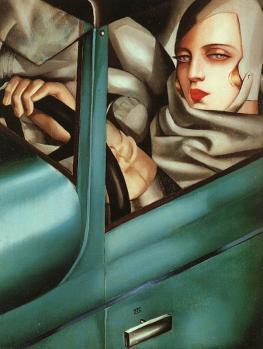 Tamara de Lempicka. Mon portrait ou Tamara dans une Bugatti verte (1927)