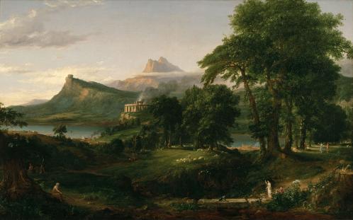 Thomas Cole. Le cours de l'Empire. L'État pastoral (1834)