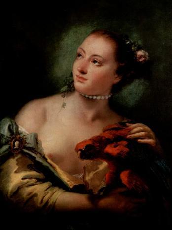 Tiepolo. Jeune femme au-perroquet, 1760-61