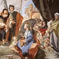 Tiepolo. Rachel cachant les idoles. Fresque, Udine, Palazzo Patriarcale, 1726-29