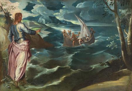 Tintoret. Le Christ sur la mer de Galilée (1575-80)