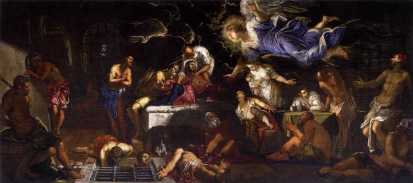 Tintoret. Saint Roch en prison visité par un ange (1567)