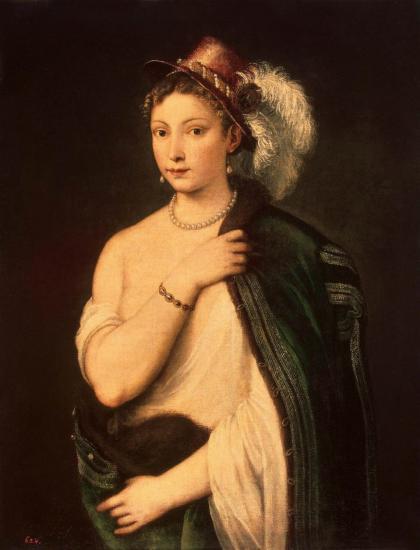 Titien. Portrait d'une jeune femme (v. 1536).