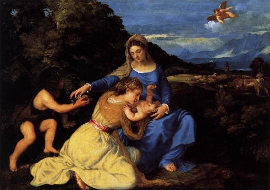 Titien. Vierge à l'Enfant avec des saints (1530)