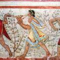 Tombe des Léopards, danseurs (5e s. avant J.-C.)