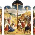 Van der Goes. Triptyque du calvaire (1465-68)