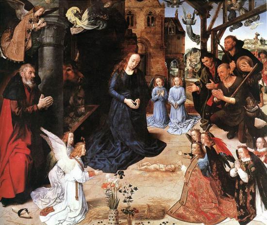 Van der Goes. Triptyque Portinari, panneau central (1475-77)