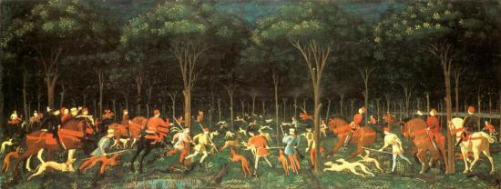 Uccello. Chasse nocturne (v. 1460)