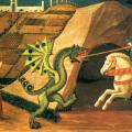 Uccello. Saint Georges terrassant le dragon (v. 1435)