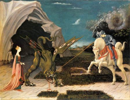 Uccello. Saint Georges et le dragon (v. 1470)