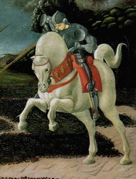 Uccello. Saint Georges et le dragon, détail