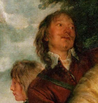 Van Dyck. Charles Ier à la chasse, détail