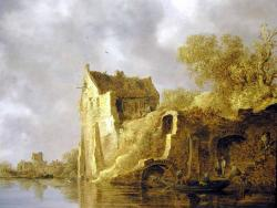 Jan van Goyen. Paysage fluvial avec une ruine (1634)