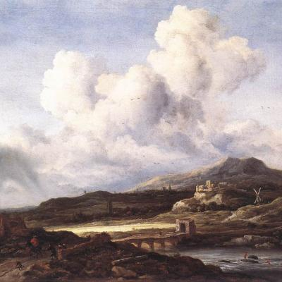Van Ruisdael. Le coup de soleil (1660)